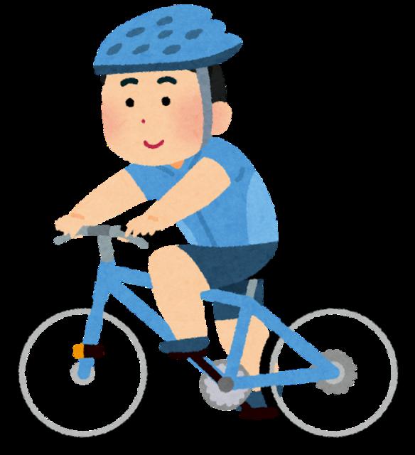 【画像】サイクリングまんさん、股間がモロにハミ出てしまう・・・