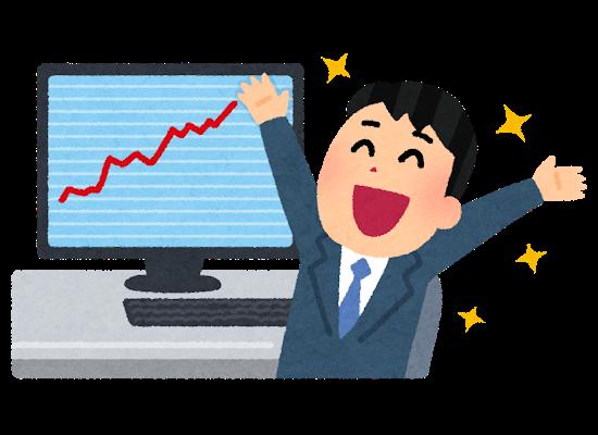 【朗報】本日の株の利益が爆凄かったwwwwww