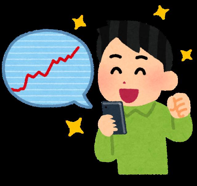 【画像】俺氏の保有株、値上がりする!!